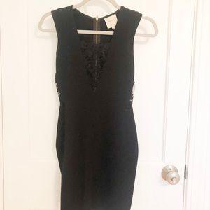 Mason Black Lace Cut Out Mini Dress